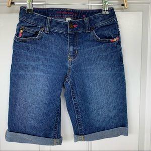 •Lands' End• Girls Denim Bermuda Shorts - Size 10